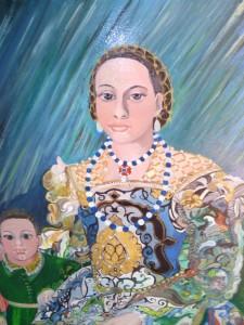 Cuadro pintado por elsevillano recordando la belleza de la pintura clásica.